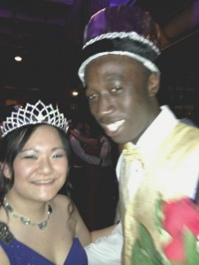 Ayun Brown and Mindy Jian were voted King and Queen of Prom by their peers in the senior class