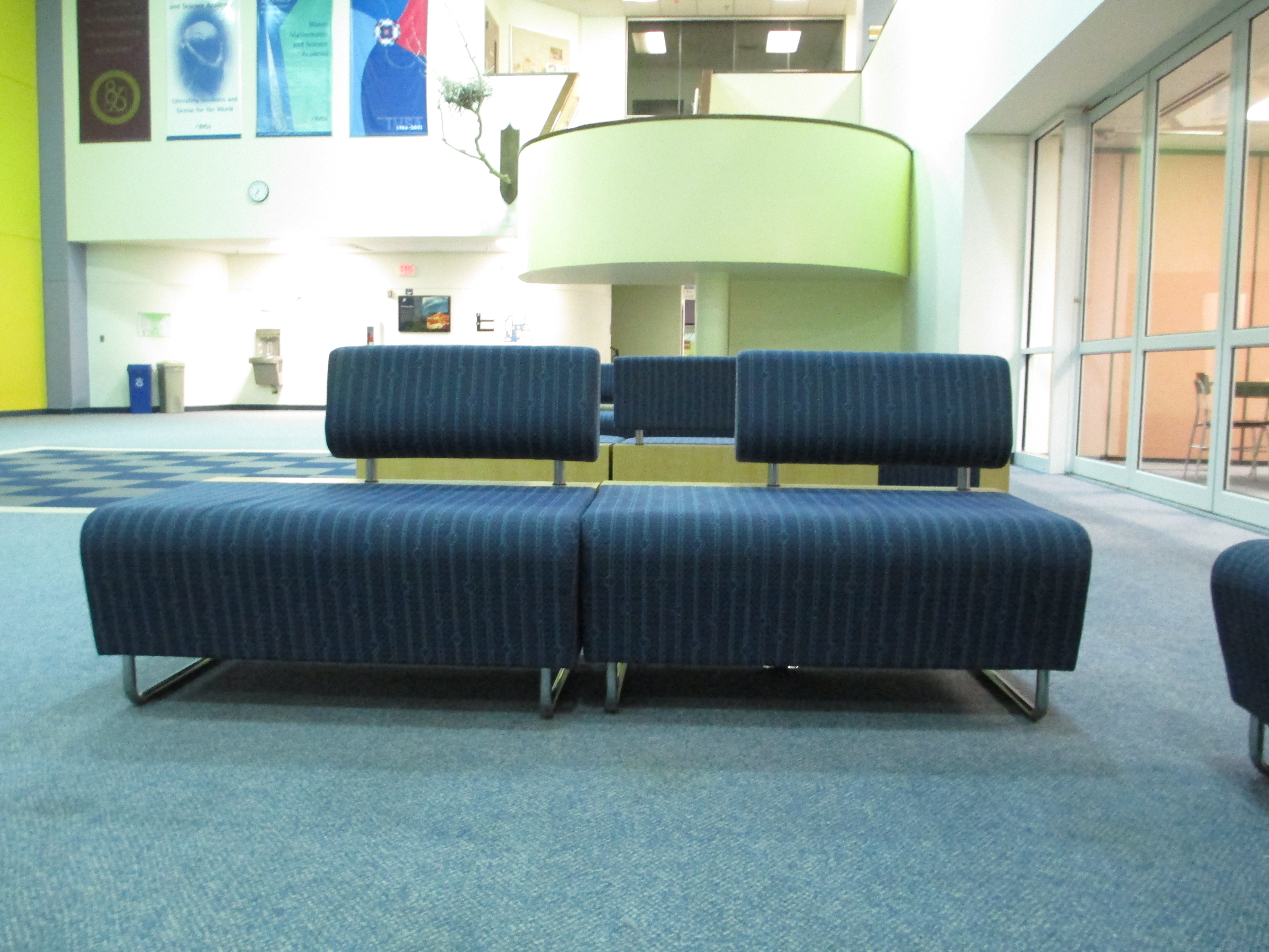 The new couches in their natural environment.