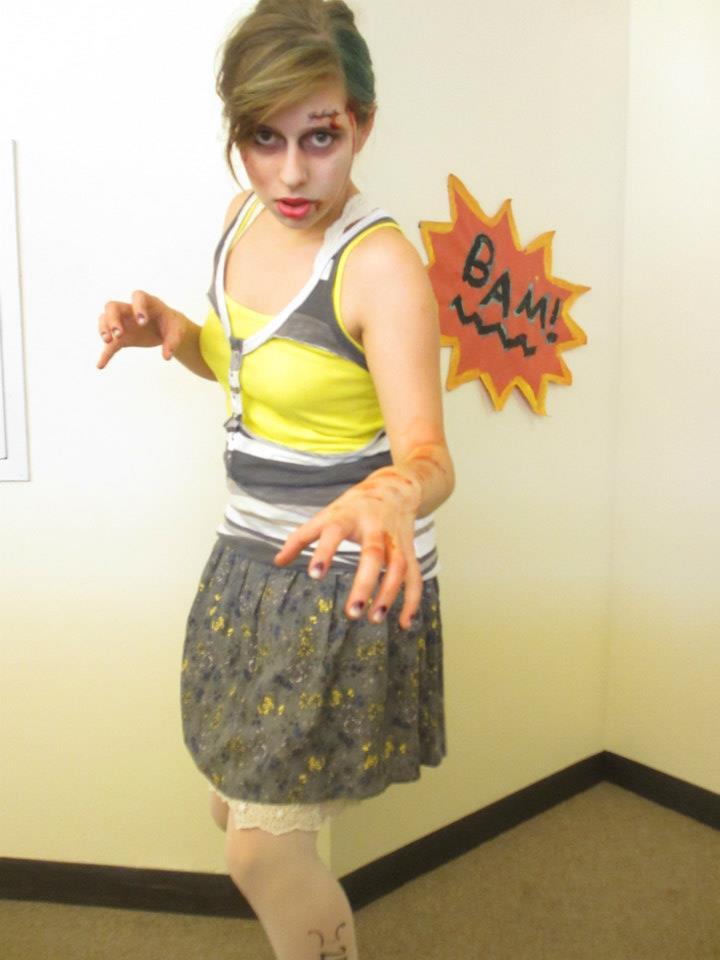 The author as zombie Paris Fashion Week