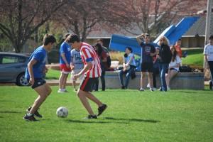 Spanish exchange students, soccer