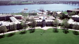 The U.S. Coast Guard Academy in New London, CT.