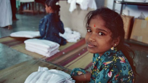 Cotton and textile industry forced laborer