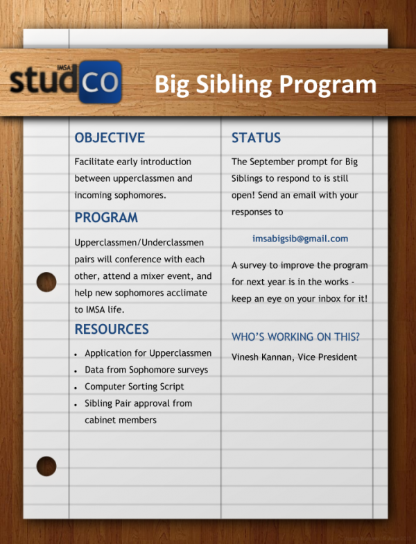 Big Sibling Program